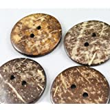 Nwx1985 100pc New Thick Coconut Shell 2 Holes Button Craft /Sewing/hot Products