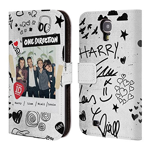 One Direction 1D Ufficiale Foto W Made In The A.m. Cover a portafoglio in pelle per Samsung Galaxy S4 I9500