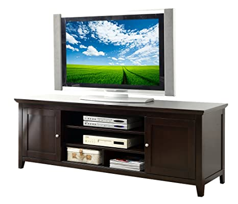 Abbyson Living Cassie Wood TV Console, 72-Inch, Solid Oak