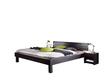 XXS® Massivholzbett Campino Bett aus Kernbuche geölt 160 x 200 cm geteiltes Kopfteil