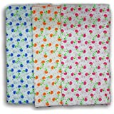 FeatherTouch Large Baby Swaddle Cloth, Infant Wrap, Receiving Blanket Combo Set Of 3, Multicolour ,44x44
