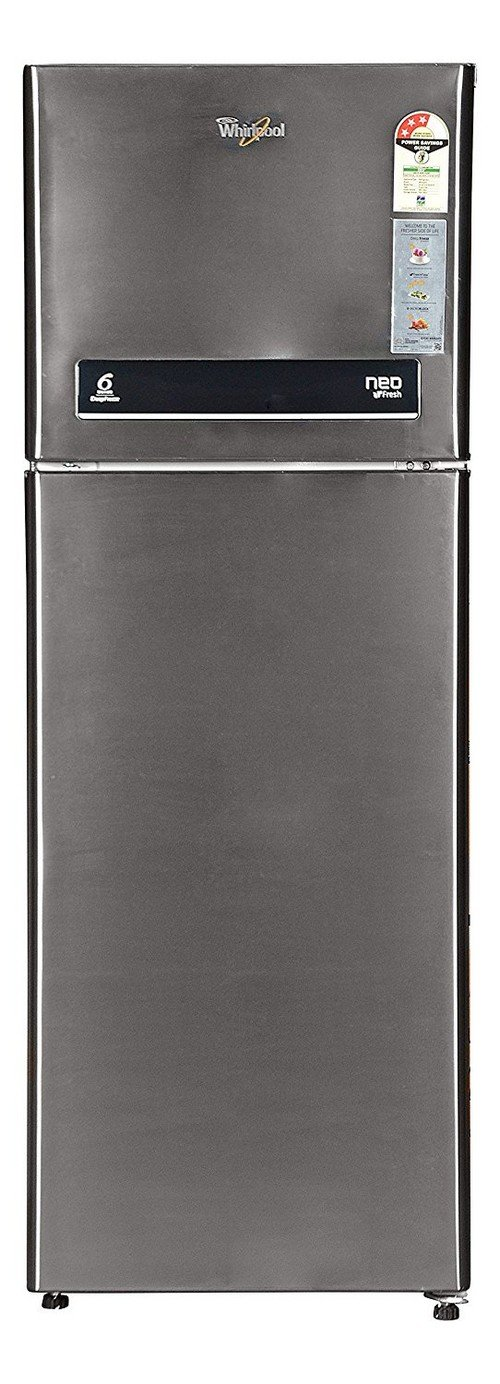 Whirlpool NEO DF278 ROY PLS (3S) Frost-free Double-door Refrigerator (265 Ltrs, 3  Star Rating, Infinia Steel) By Amazon @ Rs.23,990