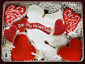 Be My Valentine Decorated Sugar Cookie Gift Tin