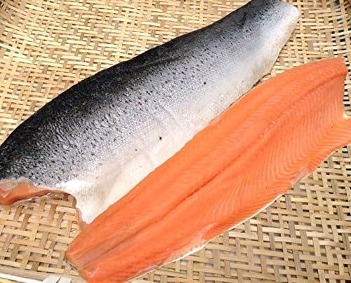 代々木フードマート アトランティック サーモン 刺身用 鮭 フィレ 半身 皮つき 骨なし トリムD 900g