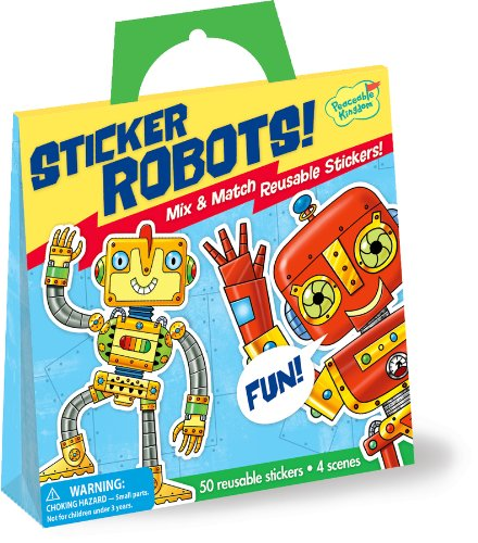 Peaceable Kingdom / Mix & Match Robots Reusable Sticker Tote front-707655