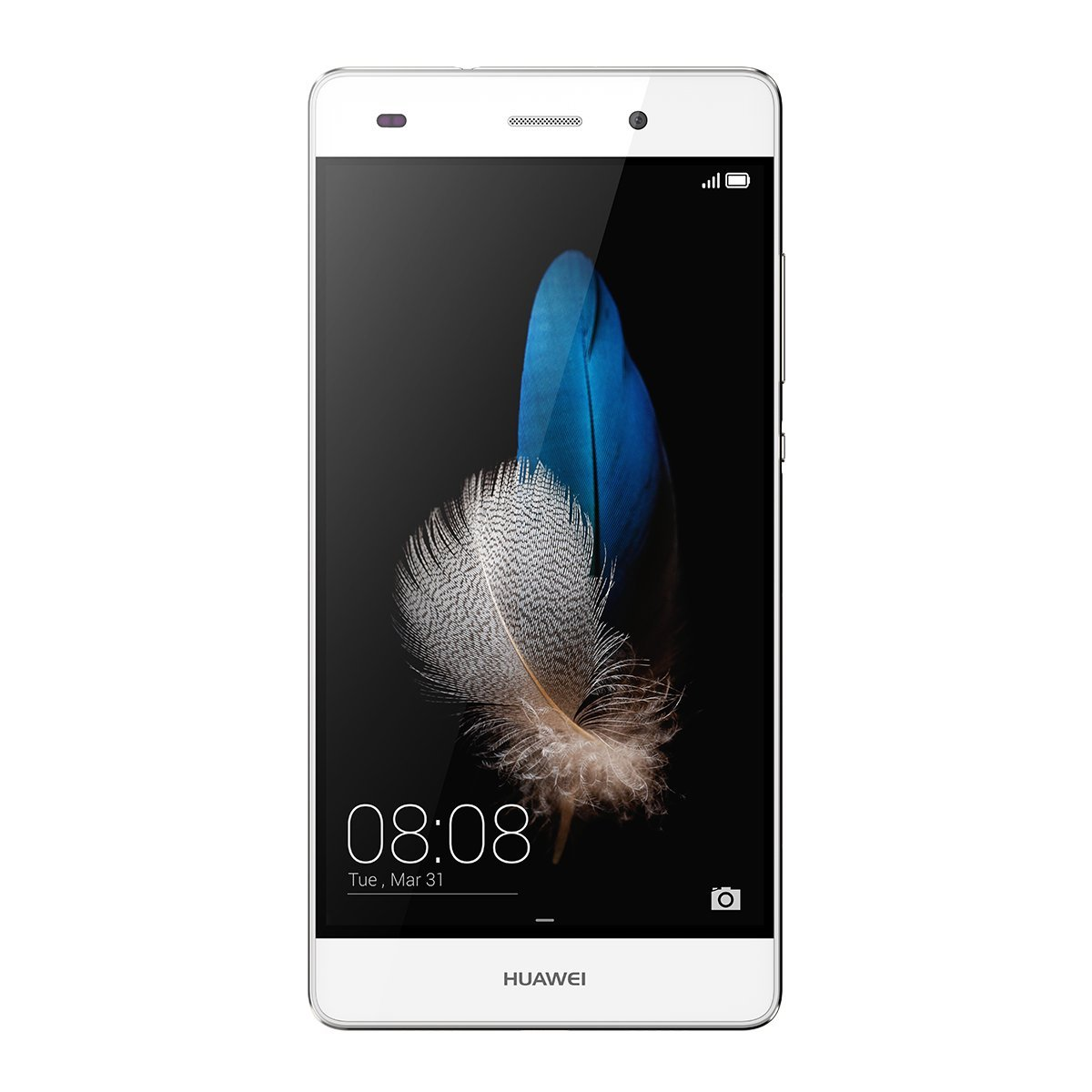 "Huawei P8 lite (US Version: ALE-L04) - 5"" Unlocked Android 4G LTE Smartphone - Octa Core 1.5GHz, Dual SIM, Gorilla Glass, 13MP Camera - White (U.S. Warranty)"