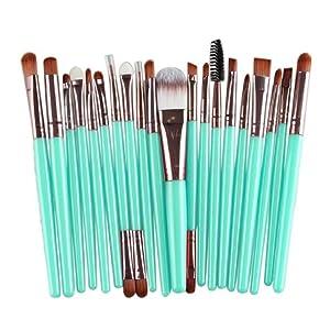 Mostsola 20 Pcs Wool Makeup Brush Set Tools Toiletry Kit (Rose Gold)