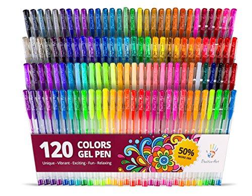 positive-art-120-unique-colors-no-duplicates-gel-pen-set-1-pens-for-adult-coloring-books-huge-color-