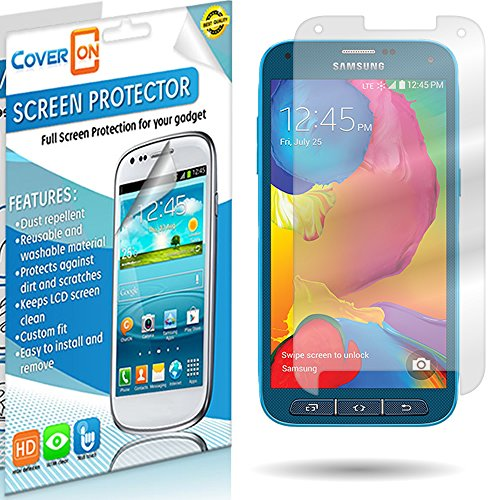 Samsung Galaxy S5 Sport Screen Protector By Wireless Central, Clear Transparent Anti-Glare Lcd Screen For Samsung Galaxy S5 Sport