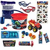 Blaze And The Monster Machines Easter Candy and Toy Gift Basket Bundle (14 Items)
