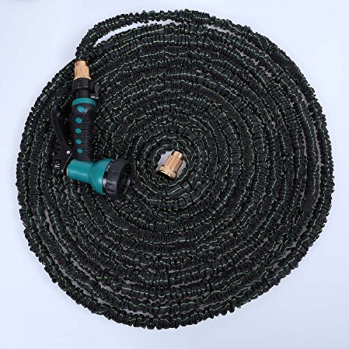 150-ft-Expandable-Flexible-Garden-Water-Hose-With-Spray-Nozzle-Head-High-class-fabric-wrapper-Aluminum-connector-High-Quality-Latex-hose-antiwear-ultraviolet-proof-The-Shrinking-Garden-Hose-is-Collaps