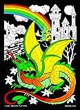Dragon Castle - 11x15 Fuzzy Velvet Coloring Poster