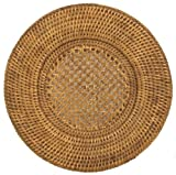 Entertaining with Caspari 13-inch Rattan Charger, 1-Count