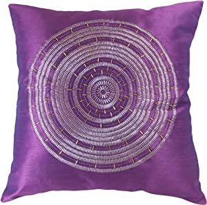 Amazon.com - Decorative Emboirdery & Beads Floral Throw Pillow