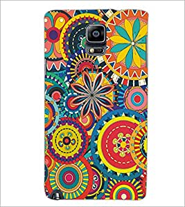 PrintDhaba Pattern D-5139 Back Case Cover for SAMSUNG GALAXY NOTE 3 (Multi-Coloured)