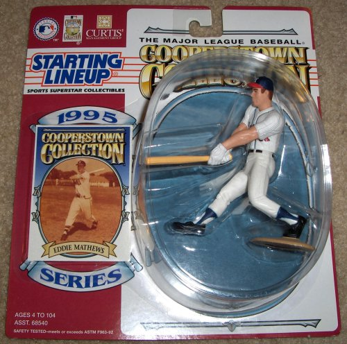 1995 Eddie Matthews MLB Cooperstown Collection Starting Lineup Figure - 1