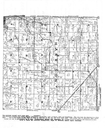Harrison Township, Arkel, Mahaska County 1943, Iowa, 1943 Old Map Reproduction