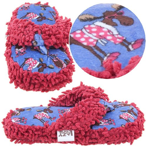 Image of Lazy One Don't Do Morning Moose Thong Slippers for Womens (B00869FD5E)