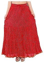 Magnus Women's Long Skirt (SKT483, Red, S)