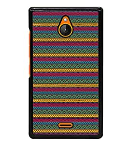 Zigzag Pattern Back Case Cover for NOKIA XL
