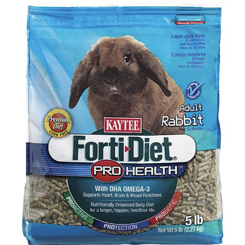 >>Kaytee Forti Diet Pro Health Food for Adult Rabbits, 5-Pound Reviews