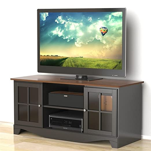 Cinnamon Cherry Black TV Stand FMP25287