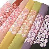 ちりめん六越 刺繍半衿(半襟) 桜 紫 結婚式 成人式 フォーマル 振袖用 袴