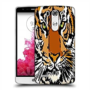 Snoogg sketch of white tiger vector illustration Designer Protective Back Case Cover For LG G3 BEAT STYLUS