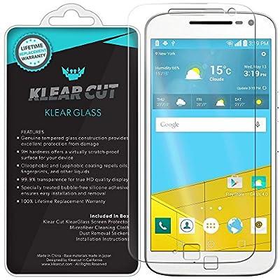 Motorola Moto G4 Plus Screen Protector, Klear Cut KlearGlass Ballistic Tempered Glass Screen Protector for Motorola Moto G4 Plus HD Clear 9H Hardness Anti-Bubble Shield - Lifetime Warranty