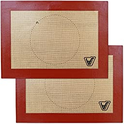 Silicone Baking Mat for Toaster Oven - Set of 2 Quarter Sheet (Size 7 7/8\