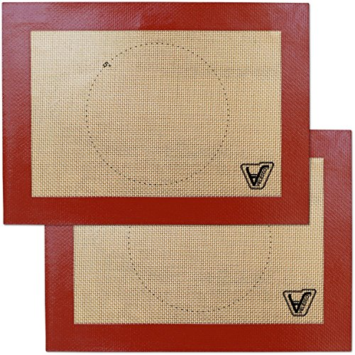 Silicone Baking Mat for Toaster Oven - Set of 2 mats (Size 7 7/8