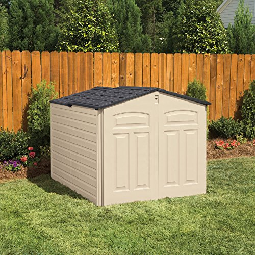 Rubbermaid Plastic Slide Lid Outdoor Storage Shed, 96-Cubic Feet