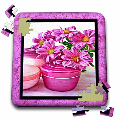 Susan Brown Designs General Themes - Flowers and Cream at the Spa - 10x10 Inch Puzzle (pzl_41281_2)