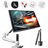 Ugee UG-1910B 19 Inch Graphics Pen Display Tablet with LCD Monitor Arm, DP to VGA Adapter, 2 Original Pens, Monitor Cover, Screen Protector, Two-Finger Glove and 2 USB Cable for MacBook Pro Air IMAC