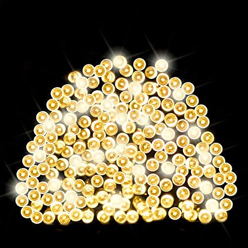 200 DEL Guirlandes lumineuses solaires d'un Blanc chaud par SPV Lights: les lampes solaires et les spécialistes de l'éclairage (2 ans gratuit garantie)