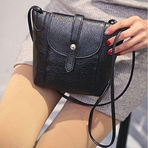 New Fashion Women Messenger Bag PU Leather Crossbody Satchel Shoulder Handbag Color Black (Camper Hiking Boots compare prices)