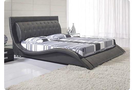 Andorra Black Bed Frame - King - Dream Warehouse