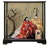 寿喜代作 雛人形 ひな人形 ケース飾り 親王飾り 立雛 創作人形 平安80 h283-sk-80