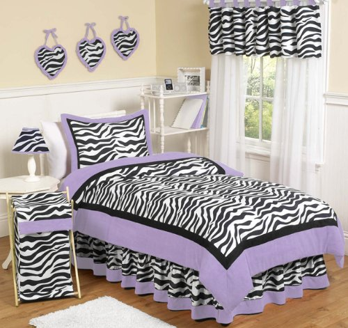 purple zebra bedding twin
