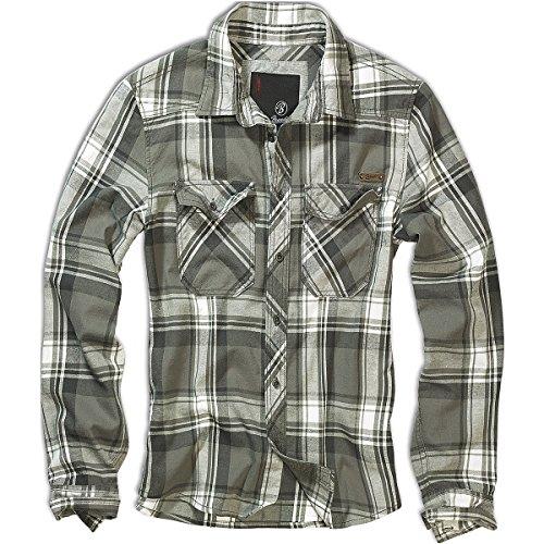 Brandit Uomo Check Camicia Oliva taglia XL