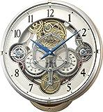 Small World(リズム時計) 機械式 時計 をイメージした《ギアからくり時計》 プラスチック枠/ピンクメタリック色 4MN529RH13