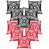 Abtractive Design Cushion Covers Combo Red & Black 40 X 40 Cms(10 Pcs Set)