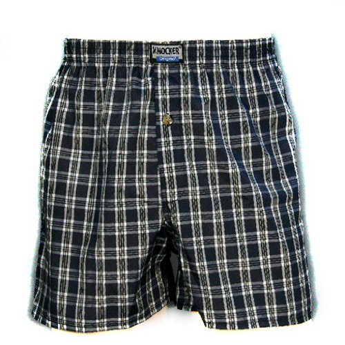 Sakkas Mens Classic Single Button Fly Tartan Plaids 3-Pack Multi Colour Assorted Woven Boxers