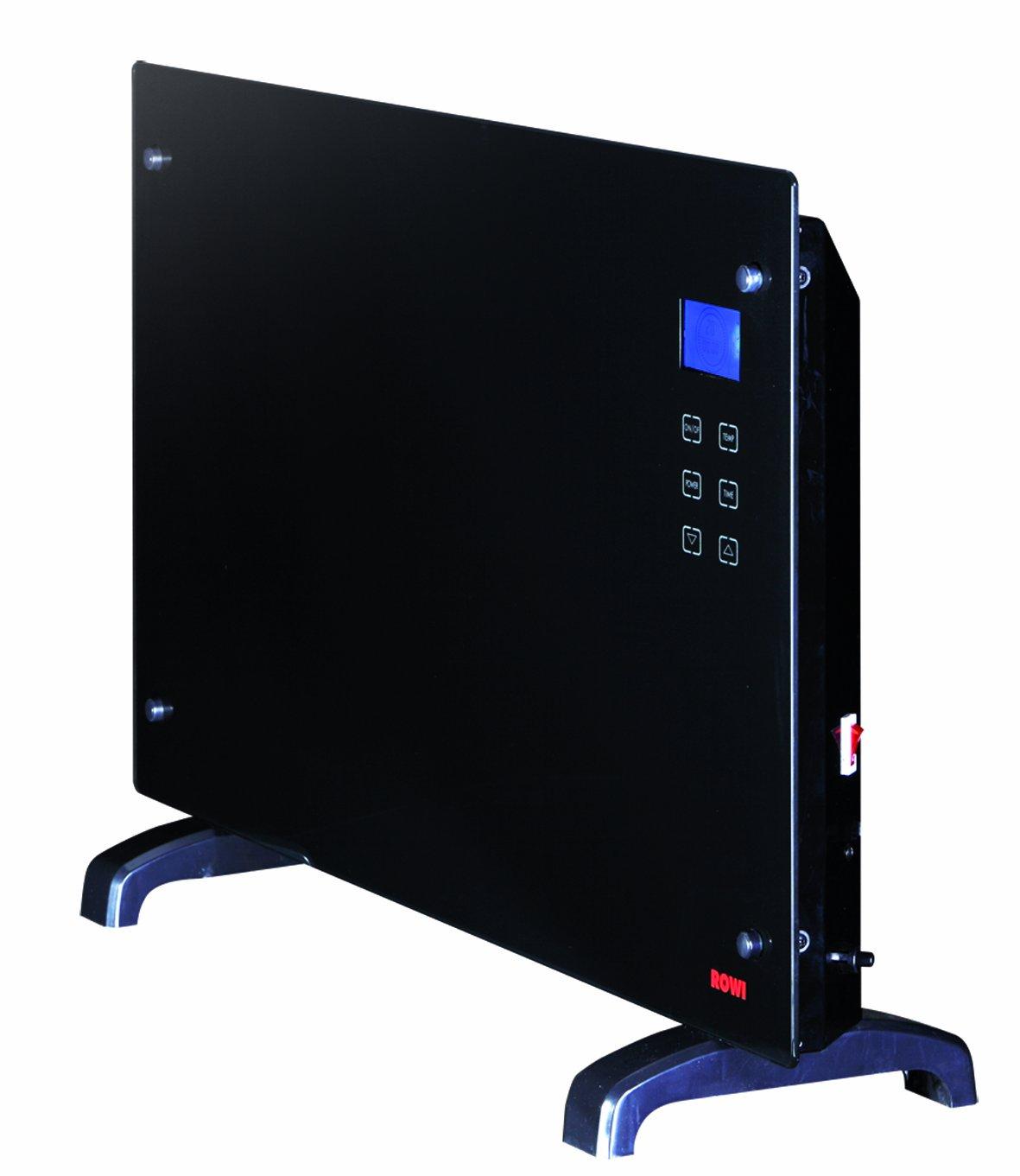 Rowi Glaswärmekonvektor 2000 W, Thermostat, LCDisplay, Fernbedienung, HGK 2000/2/1 TDF Premium 1 03 03 0070  BaumarktKundenbewertung und Beschreibung