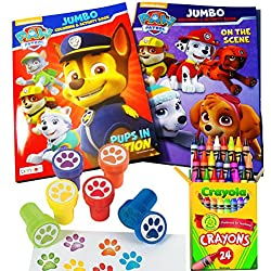 Paw Patrol Coloring and Stamper Activity Book Set