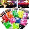Lot de 3600 Elastiques 388kidi + Crochets + Clips S - Pour Métier à Tisser (Loom) Bracelet - 12 sachets de 12 couleurs - 100% compatible Rainbow Loom, Cra-Z-Loom et autres kits loom - 3600kidiUNI