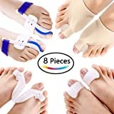 PAAZA Bunion Corrector & Bunion Relief Kit - Cure Pain in Big Toe Joint, Tailors Bunion, Hallux Valgus, Hammer Toe, Toe Separators Spacers Straighteners Splint Aid Surgery Treatment (Tamaño: 8 pcs)