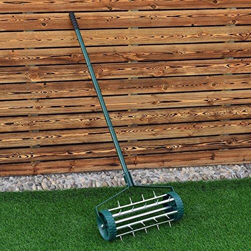 Heavy Duty Rolling Garden Lawn Aerator
