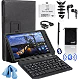 EEEKit 9 Items Office Kit for Dell Venue 8 7000 Tablet,Folio Case Cover,Wireless Bluetooth Keyboard,USB OTG Card...
