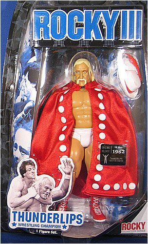 Buy Low Price Jakks Pacific THUNDERLIPS (HULK HOGAN) (ROCKY 4 BACK SIDE PACKAGING) – ROCKY SERIES 4 ACTION FIGURE (B000OOT75G)